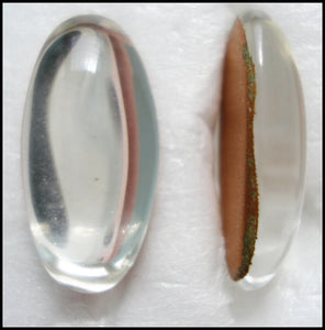 18X9MM (2195) CRYSTAL COLOR OVAL CABOCHONS