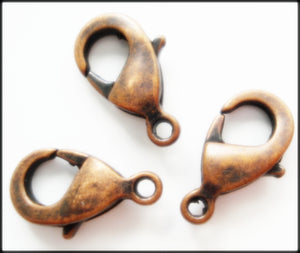 13MM LOBSTER CLAW CLASP ANTIQUE BRONZE