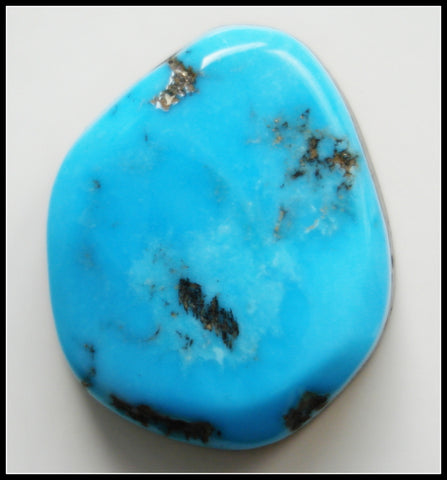 16.2 X 13.4MM (S90) BAROQUE NATURAL TURQUOISE CAB