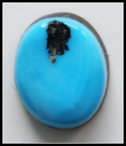 10.0 X 8.1MM (S90) BAROQUE NATURAL TURQUOISE CAB