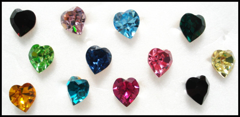 6.6X6MM (4800) HEART SHAPE RHINESTONES