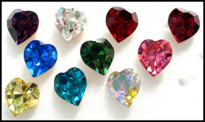8.8X8MM (4800) HEART SHAPE RHINESTONES