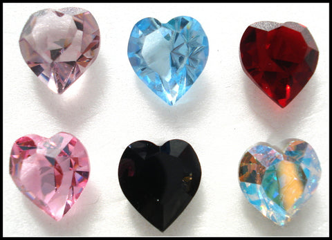 11X10MM (4800) HEART SHAPE RHINESTONES