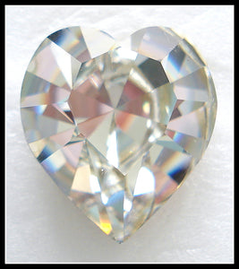 18.7X17MM (4800) FOILED CRYSTAL HEARTS