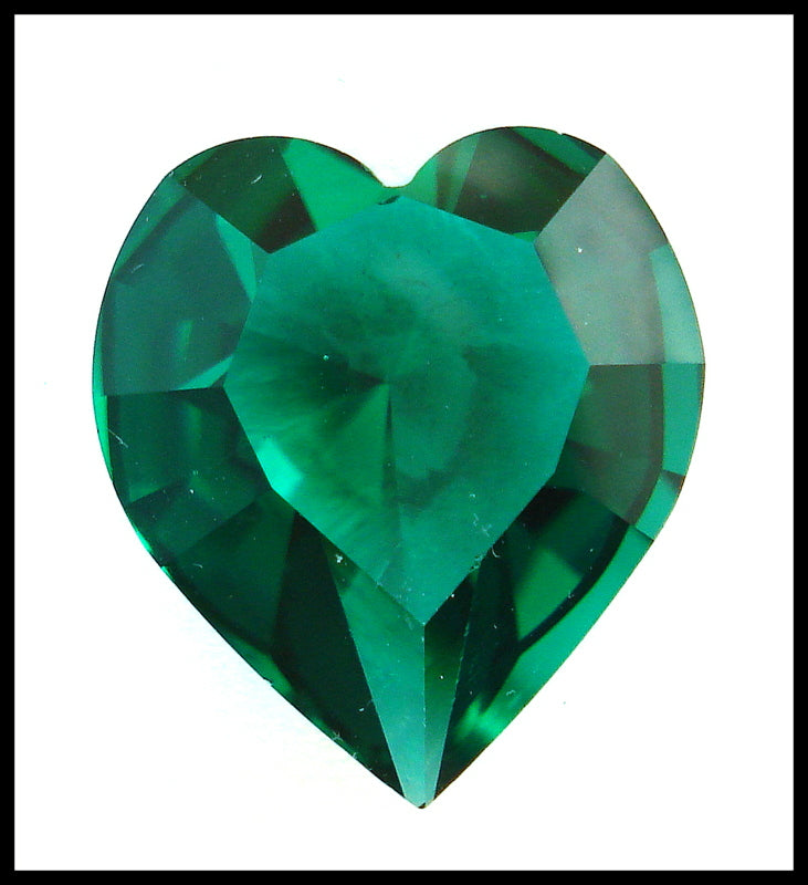 18.7X17MM (4800) UNFOILED EMERALD HEARTS