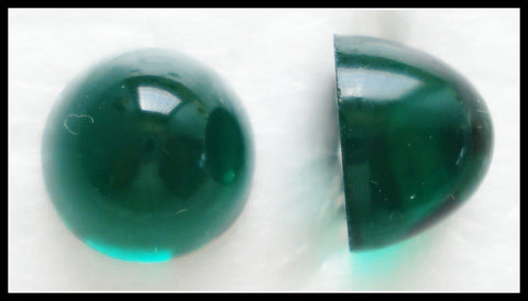 11MM (1684)(2099/4) UNF. EMERALD HIGH DOME CABOCHONS