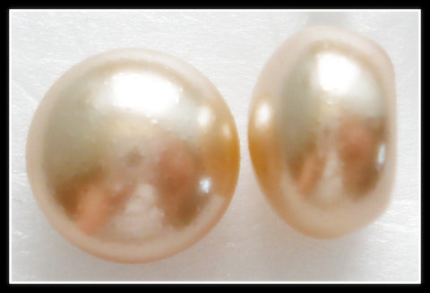 10MM IMITATION DARK ROSE BUTTON TOP PEARLS