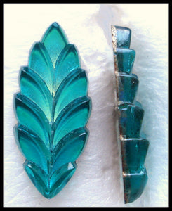 20X9MM FLAT BACK EMERALD COLOR LEAVES