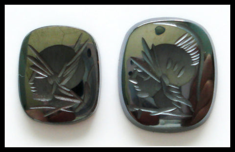 14x12mm (S55) Hematite Antique/Cushion Intaglio