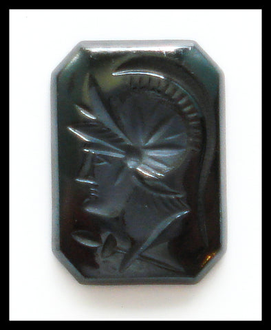 14x10mm (S55) Hematite Cushion/Octagon Intaglio