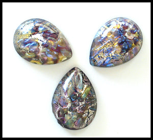 15X11MM (3331) BLACK OPAL PEAR/PEND CABS