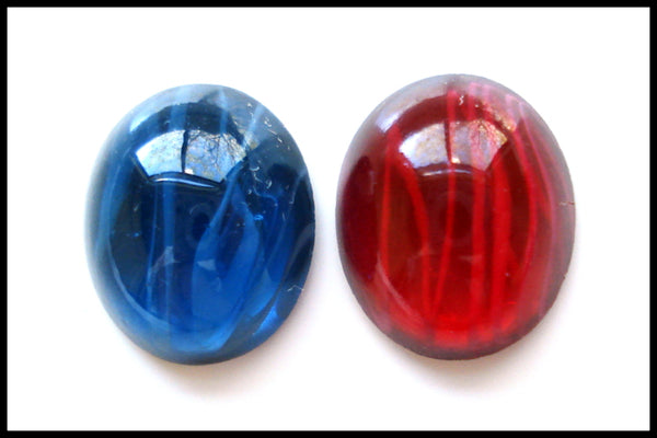 12X10MM (1685) FLAWED GLASS OVAL CABS