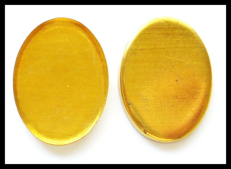 18X13MM (F2195) BEZEL OVAL GOLD PLATED 2/$1.00