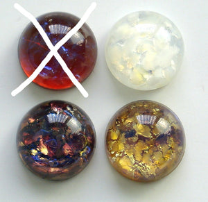 13MM (1684) GLASS ROUND OPAL CABOCHONS