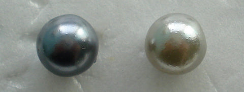 7MM ONE HOLE HALF DRILLED FAUX PEARLS