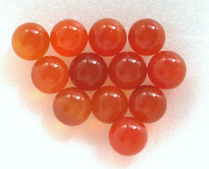 5MM (S6) NATURAL CARNELIAN GEM BALLS