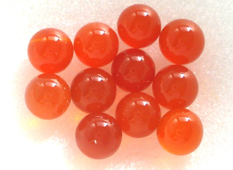 4MM (S6) NATURAL CARNELIAN GEM BALLS