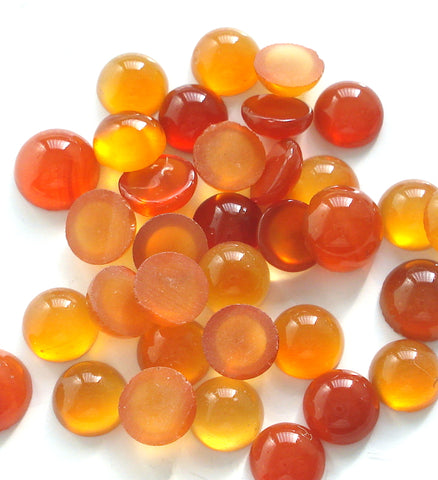 5-6MM (S6) NATURAL CARNELIAN CABOCHONS