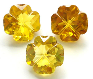 11MM SIMULATED TOPAZ TRIFOIL FLOWER