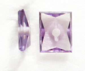 10X8MM (SS06) SIM. ALEXANDRITE CUSHION W/HOLE