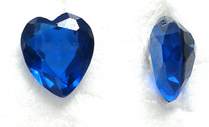 9.5X8MM (SS09) SYNTHETIC BLUE SPINEL HEARTS