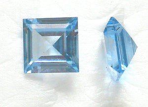 10MM (SS03) SYNTHETIC CORUNDUM AQUA SQ