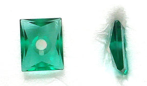 10X8MM (SS05) SIMULATED EMERALD CUSHION