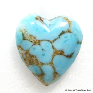 15MM GLASS TURQUOISE MATRIX HEARTS