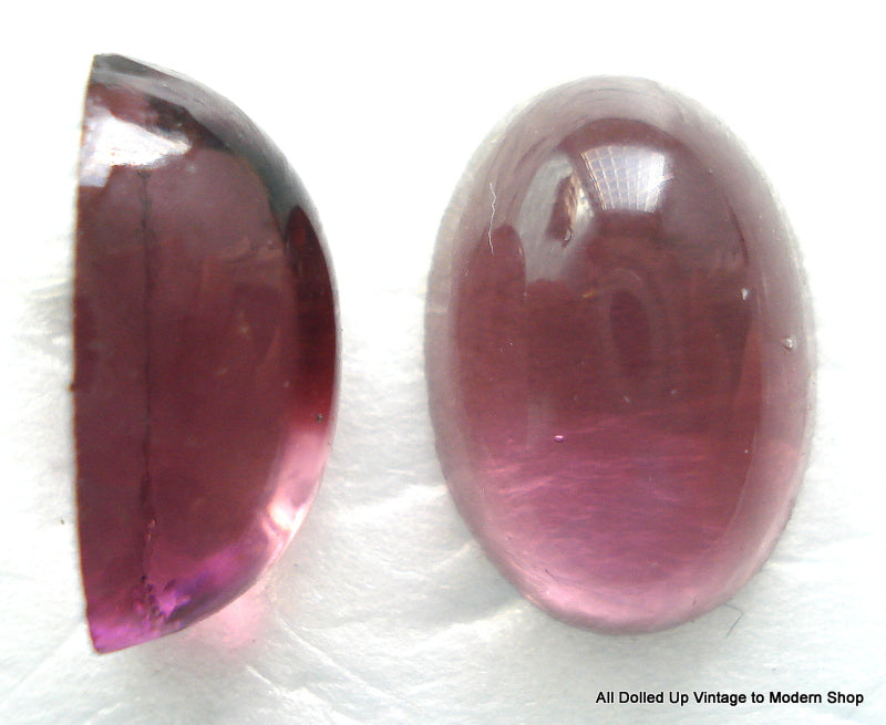 16X11MM (2195) OVAL GLASS AMETHYST HIGHER DOME CABS