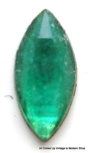 6X3MM (2222) EMERALD FULLY FACETED MARQUISES FLAT BACK