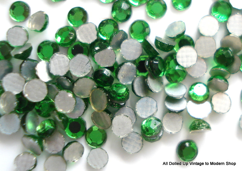 1.9-2.0MM (2000) (6SS) GERMAN EMERALD FLAT BACKS (144)