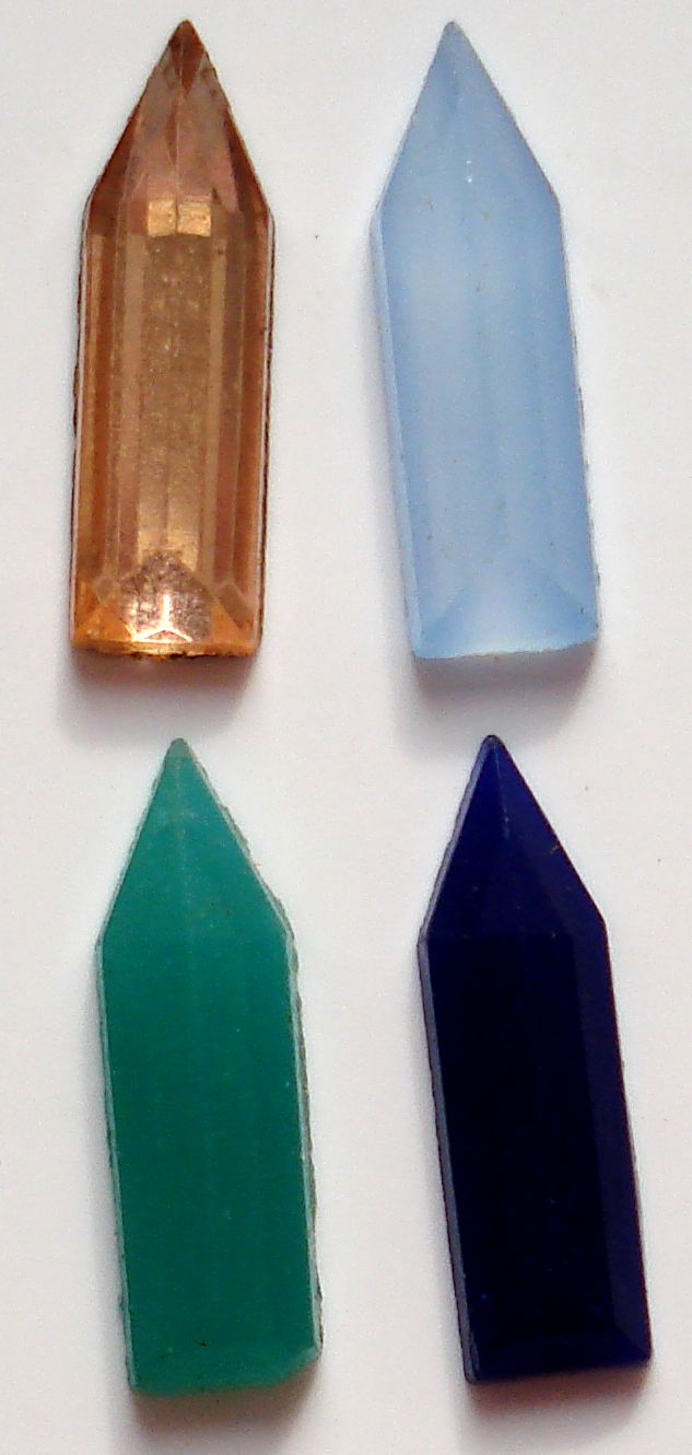 13.5x4mm Pointed End Baguettes (Flatback)