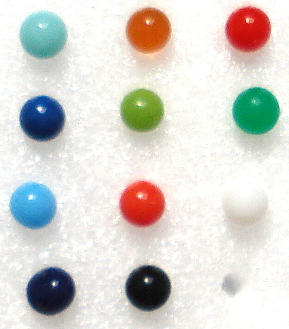 2.0mm (8988) Undrilled Colored Balls (20pk)