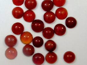 6mm (S6) Natural Carnelian Round Cabochon