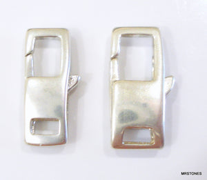 13mm and 15mm Sterling Silver Rectangle Clasp