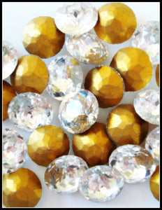 9.2-9.5mm (1200) (43SS) Crystal Round Dentelles