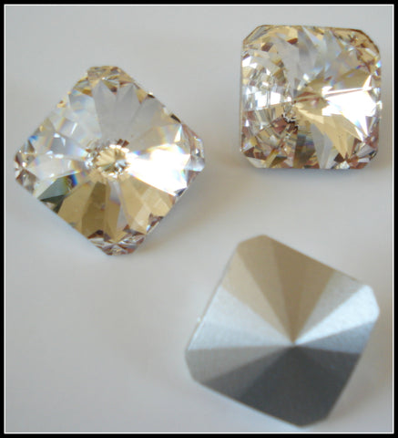 18mm (4650) Swarovski Crystal Square Rivoli
