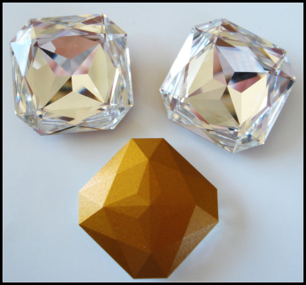 23mm (4675) Crystal Square Octagons