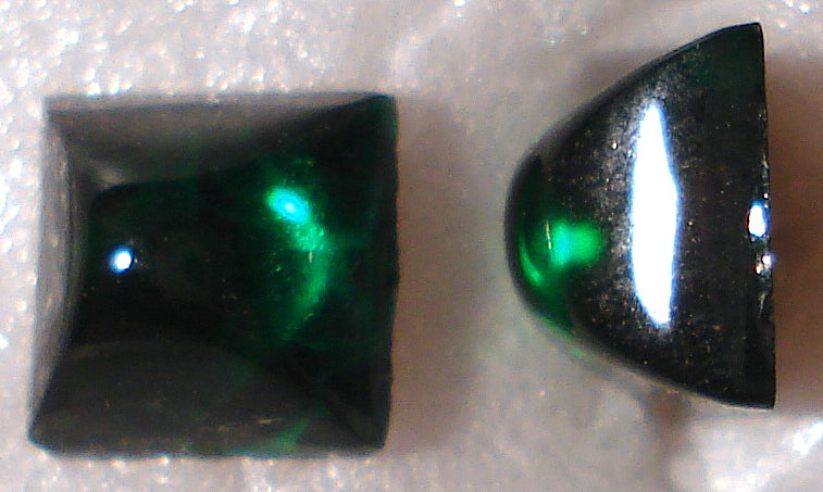 6mm (2062) Emerald High Dome Square Cabochons