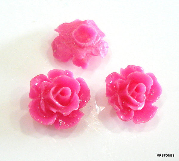 9mm (2269) Flower Pink Celluloid Plastic Back Plug Post