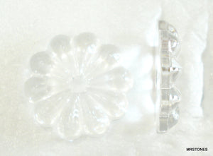 20mm (3710) Glass Clear Flat Back Flower Center Hole