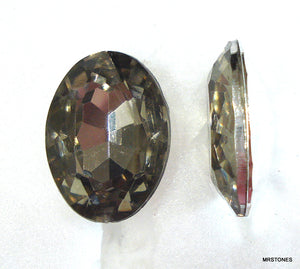 18x13mm (KCBSO) Acrylic Black Diamond Oval Shape