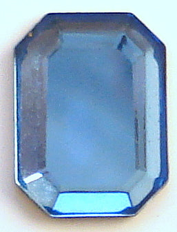 8x6mm (2610/2) Sapphire Cushion Octagon Rose Cut Flat Back