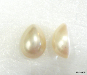 8x6mm (14IHPP) Creme Imitation Pearl Pear Cabochon