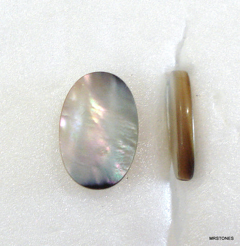 12x8mm (KABTP) Black Tahitian Mother of Pearl Ovals