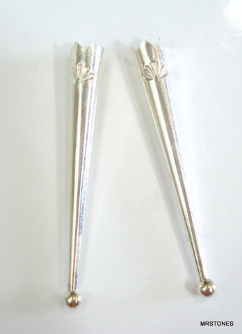 "2"" Sterling Silver Bolo Tips (pair)"