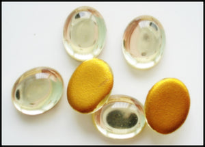 10x8mm (2195) Jonquil Glass Oval Cabochon