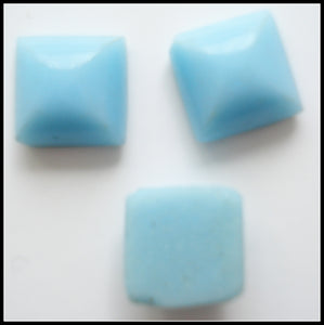 6mm (3066) Glass Light Turquoise Square Flat Back