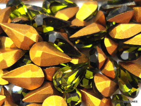 6x3.6mm (4300) Olivine Pear Shape