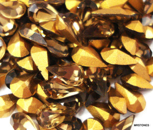 6x3.6mm (4300) Light Smoked Topaz Pear Shape
